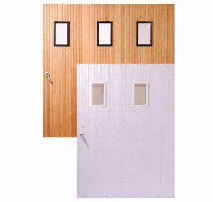 Pose de portes de garage et de fermetures industrielles - Porte pvc marron ...